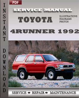 Toyota 4Runner 1992 manual