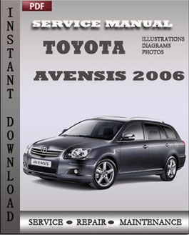 toyota avensis 2006 engine service repair manual repair service manual pdf. Black Bedroom Furniture Sets. Home Design Ideas