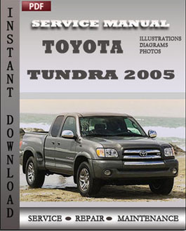 Toyota Tundra 2005 manual