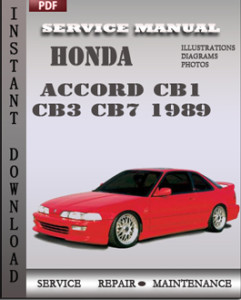 honda accord cb1 cb3 cb7 1989 workshop repair manual repair service manual pdf. Black Bedroom Furniture Sets. Home Design Ideas