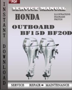 Honda Outboard BF15D BF20D global