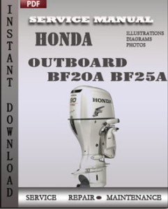 Honda Outboard BF20A BF25A global