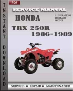 Honda TRX 250R 1986-1989 global
