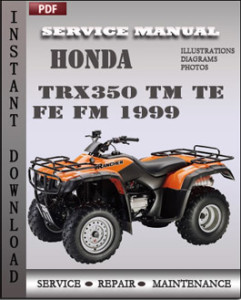 Honda TRX350 TM TE FE FM 1999 global