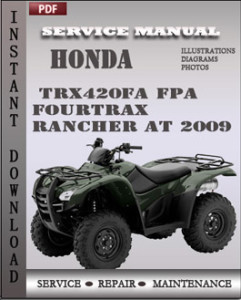 Honda TRX420FA FPA Fourtrax Rancher AT 2009 global