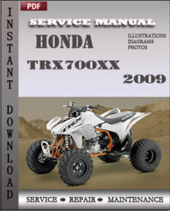 Honda TRX700xx 2009 global