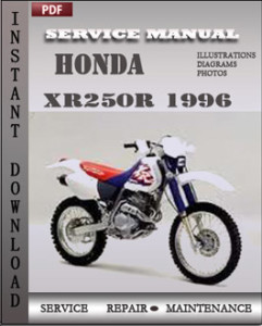 Honda XR250R 1996 global