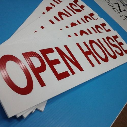 Open Houee Signs