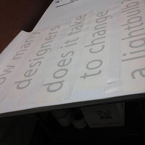 Masked vinyl lettering