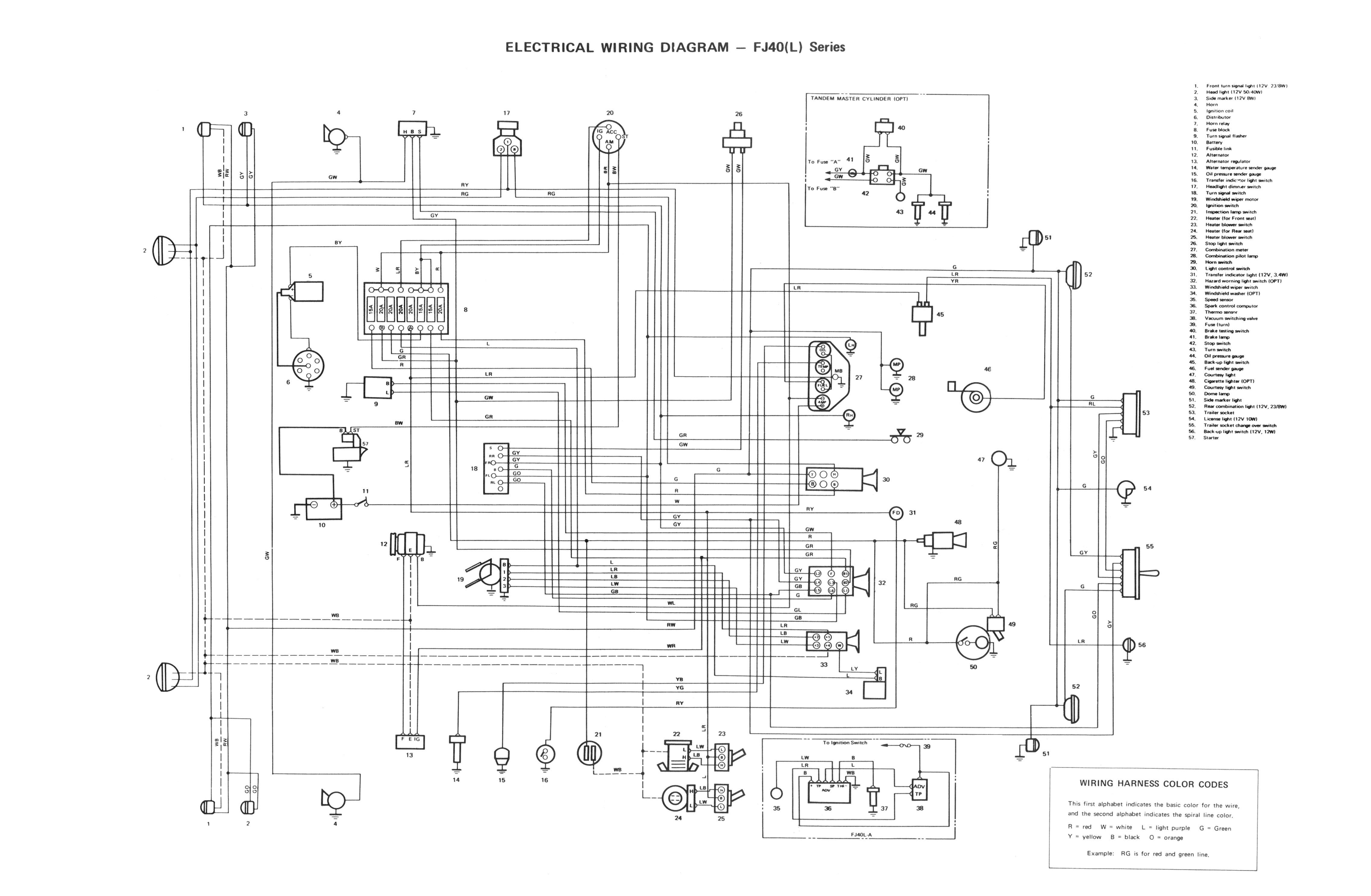 fj40 wiring harness for 72 fj40 fuel tank