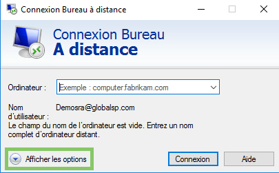 connexion aux applications rds via un windows