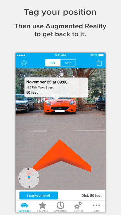 Augmented Car Finder AR App