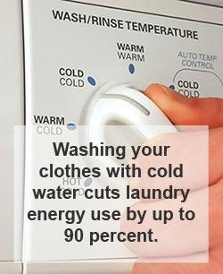 Máquina de lavar roupa a frio