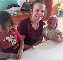 School volunteer in Peru