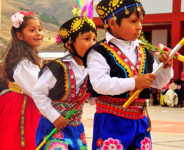 Traditional Andean dancing in Peru