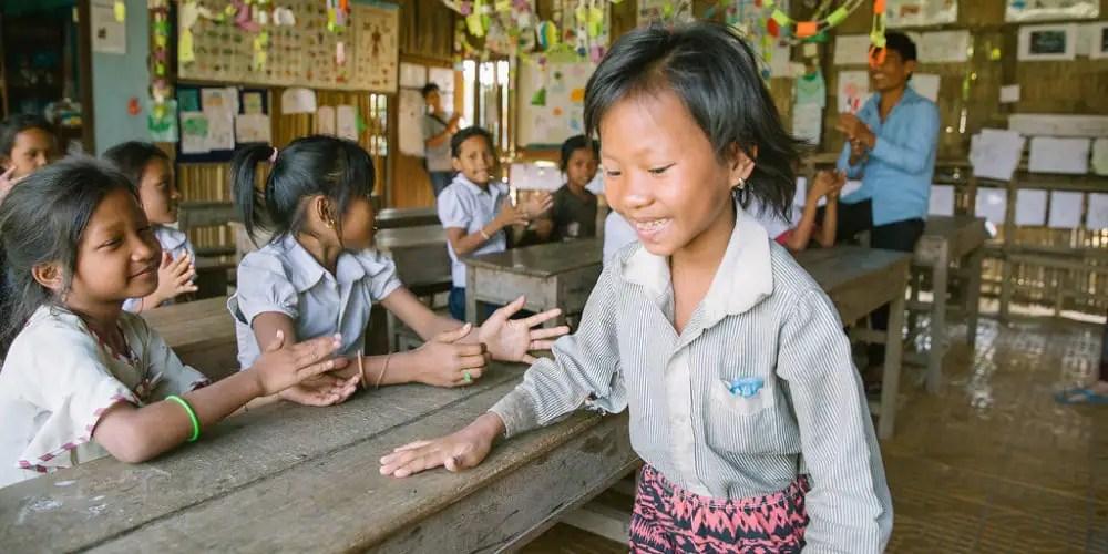 Children at the rural school in Siem Reap