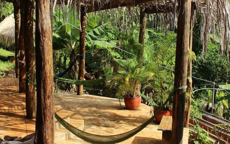 Chillout zone at the Cambodia Elephant Sanctuary
