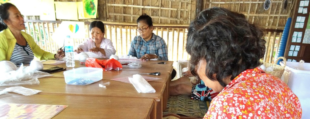 Women at the empowerment project in Cambodia
