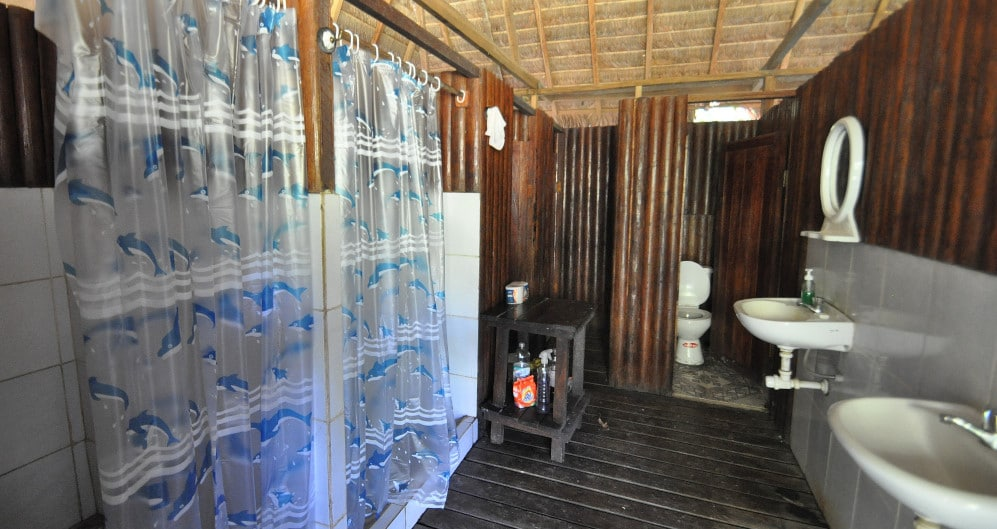 Volunteer bathroom at the Peru Amazon Wildlife Sanctuary