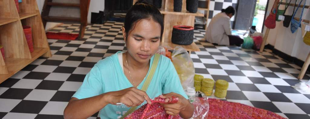 Working at the women's empowerment project