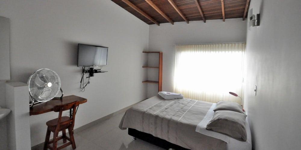 Private room at the volunteer hostel in Medellin