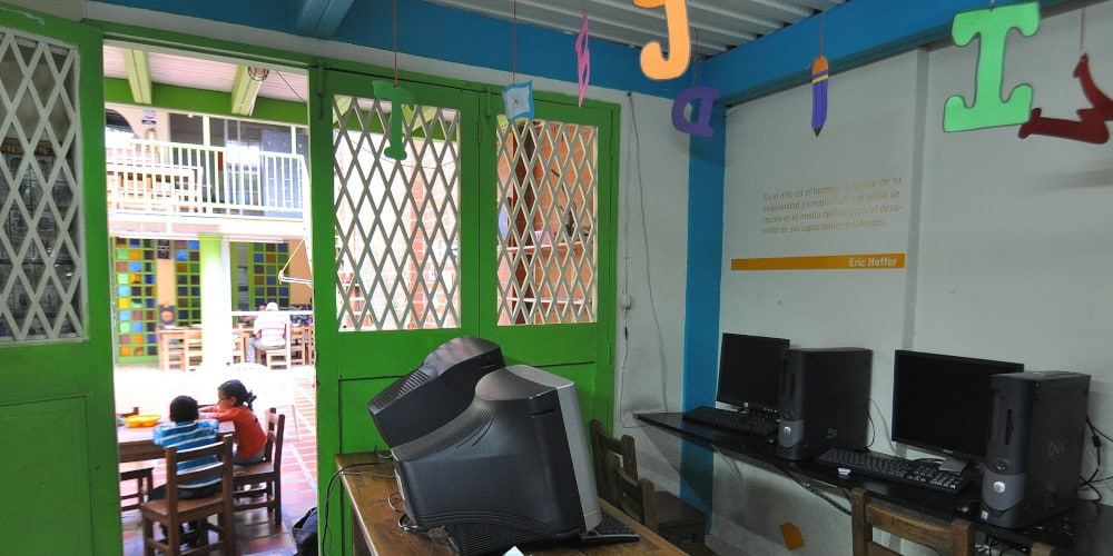Computer room at the Colombia Project