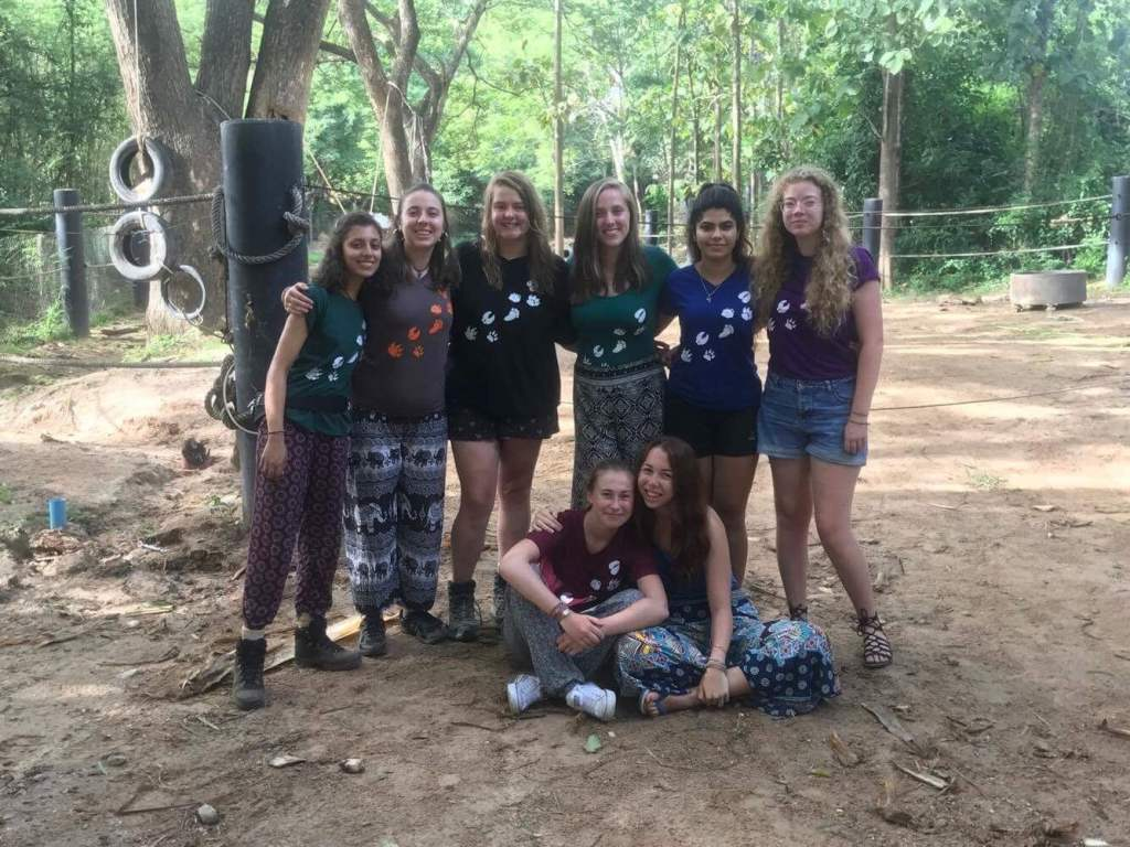 Volunteer group at the Thailand Elephant Sanctuary