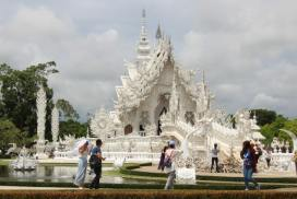The white pagoda near the Northern Thailand Elephant Sanctuary