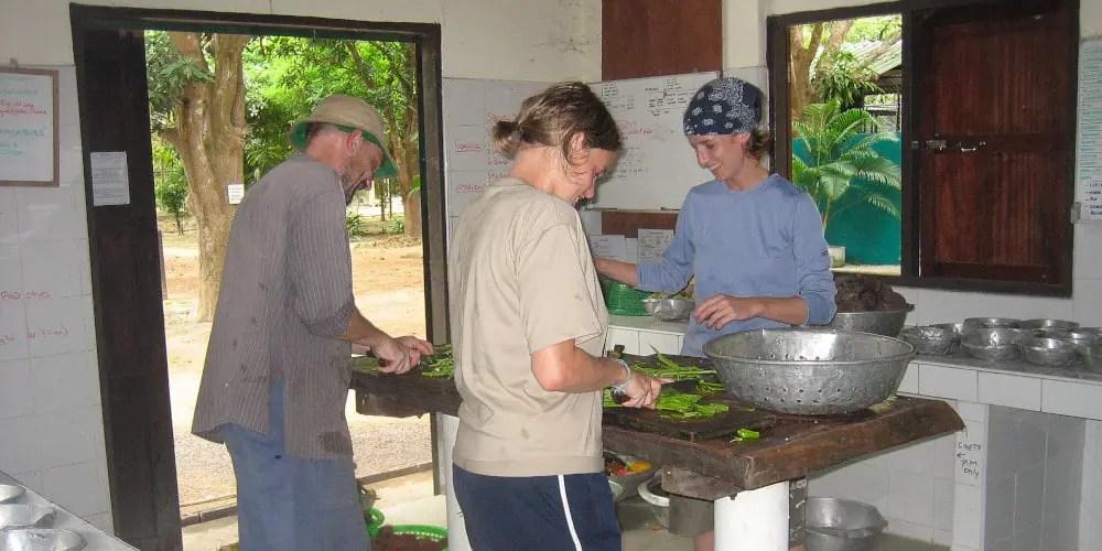 Volunteers at the Thailand Wildlife Sanctuary