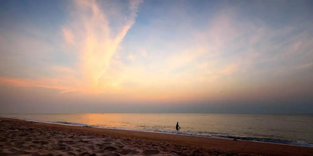 Cha Am beach near the Thailand Elephant sanctuary