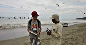 Working alongside local researcher Peru Marine Conservation