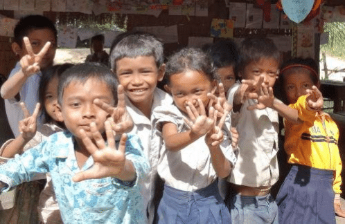 Helping Hands Cambodia Students Support John Connel Cycling