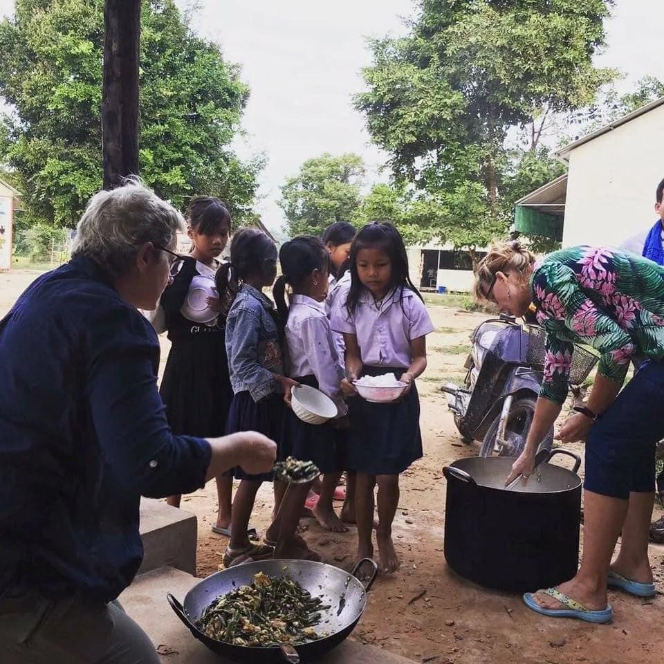 Helping Hands Volunteers Helping Serve Breakfast