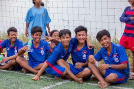 Soccer team in Cambodia