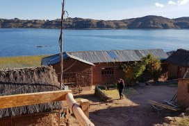 Intern at Lake Titicaca in Paramis