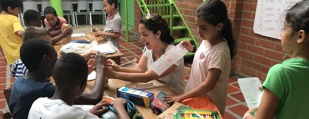 Kids Volunteering Colombia