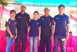 Coaches at the sports programme cambodia