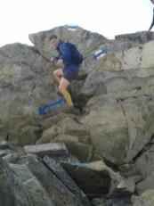 Tim descending on the Bettmerhorn-Eggishorn ridge