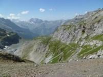 Looking down from Blaumesalphutte above Kandersteg