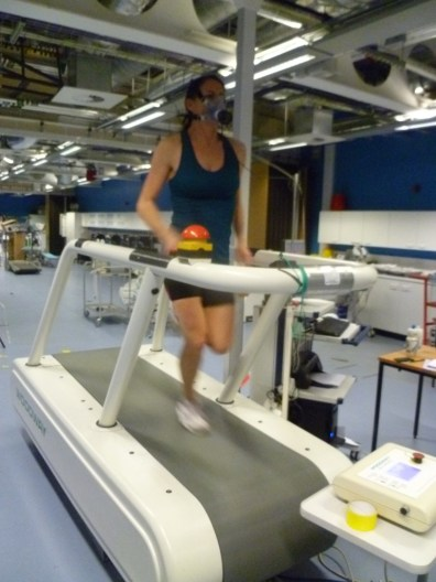 Lynne being tested