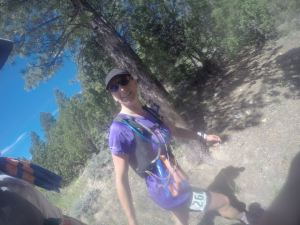 Lynne on Bryce Canyon ultra race in Utah, USA