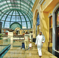 Shopping in Dubai is average, though its malls are realizations of unrestrained fantasy.