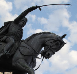 NOT HORSING AROUND Former Croatian Governor Ban Jelačić's statue was originally placed facing north toward Croatia's long-time Hungarian rulers whom Jelačić fought against. It has since been turned south, some say to face Croatia's more recent enemies from the war in the 1990s.