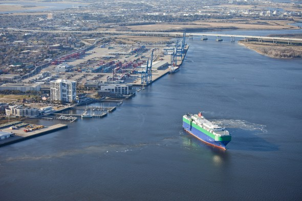 Port of Charleston has plans to increase its handling of shipments of export cargo and shipments of import cargo in international trade over the next five years.