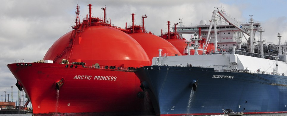 Study evaluates whether LNG is advantageous to power ships carrying shipments of export cargo and shipments of import cargo in international trade.