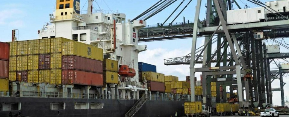 The Port of Houston is handling more shipments of export cargo and import cargo in international trade.