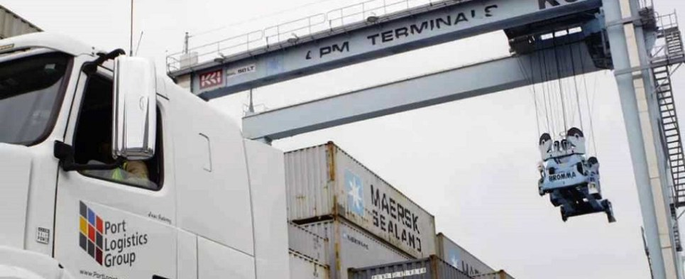 Port Logistics Group handles shipments of export cargo and import cargo in international trade.
