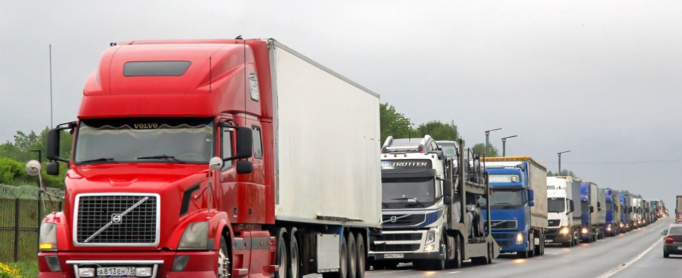 Infrastructure problems plague trucking indistry that carries shipments of export cargo and import cargo in international trade.