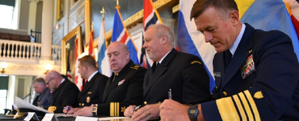 International coast guards are creating strategy for dealing with shipments of export cargo and import cargo in international trade in the Arctic.