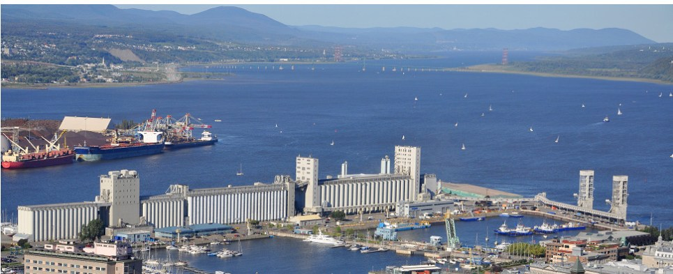 The Saint Lawrence Seaway carrries shipments of export cargo and import cargo in international trade.